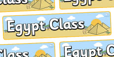 Egypt Themed Classroom Display Banner