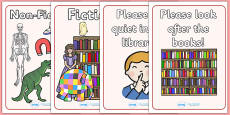 Library Role Play Display Posters