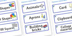 Hummingbird Themed Editable Classroom Resource Labels