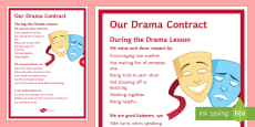Drama Contract Display Poster