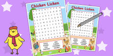 Chicken Licken Wordsearch