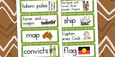 Australia - Aboriginal and Torres Strait Islander People Word Cards