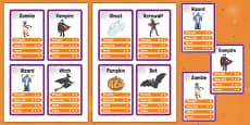 Halloween Character Card Game