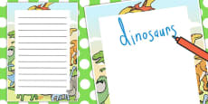 Dinosaurs Decorative Page Border