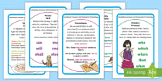 Year 5 Vocabulary Grammar and Punctuation Terminology Prompt Frame