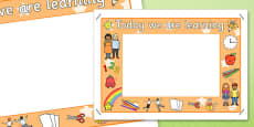 Today We Are Learning Display Sign Orange