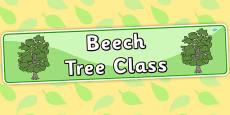 Beech Tree Themed Classroom Display Banner
