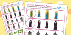 Rapunzel Size Matching Activity Sheets