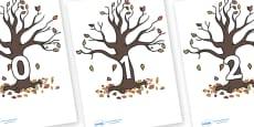 Numbers 0-100 on Autumn Trees
