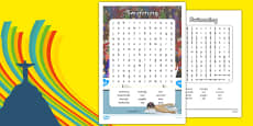 The Olympics Swimming Word Search