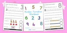 Australia - Number Formation Workbook 0-9