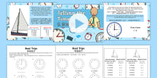 * NEW * Telling the Time  Boat Trip Times Differentiated Lesson Pack English/Mandarin Chinese