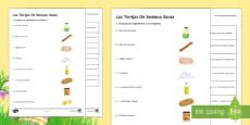Spanish Easter Dish Recipe Activity Sheet