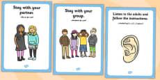 School Trip Rules Posters Arabic Translation