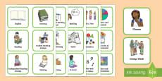 Australia Visual Timetable for Primary