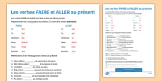 Present Tense FAIRE and ALLER French