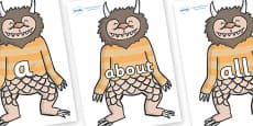 100 High Frequency Words on Wild Thing (1) to Support Teaching on Where the Wild Things Are