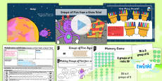 PlanIt Y1 Multiplication and Division Lesson Pack Multiplying and Dividing by Five (2)
