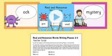 Real and Nonsense Words Writing Phase 2-5 PowerPoint and Script
