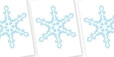 Display Snowflakes (A4) Editable