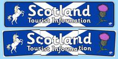 Scotland Tourist Information Role Play Display Banner