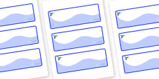 Hummingbird Themed Editable Drawer-Peg-Name Labels (Colourful)
