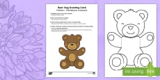 Mother's and Father's Day Bear Hug Greeting Cards English/Romanian