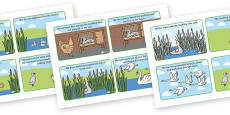 The Ugly Duckling Story Cards