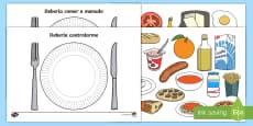 Tarjetas de clasificar: La comida