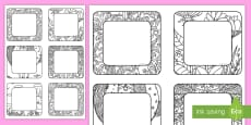 Mindfulness Colouring Square Peg Labels
