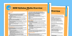 NSW Stage 2 Maths Syllabus Overview