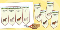 Horses and Ponies Editable Bookmarks