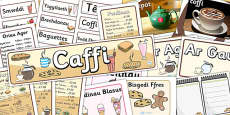 Cafe Role Play Pack (Welsh Translation)