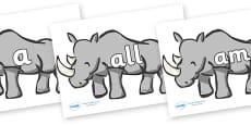 Foundation Stage 2 Keywords on Rhinos