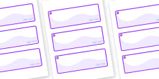 Amethyst Themed Editable Drawer-Peg-Name Labels (Colourful)