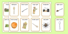 Word Medial SP Playing Cards Three Syllable Words