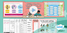 PlanIt Y2 Term 2A W2: Adding -ing to Words Ending with -y Spelling Pack
