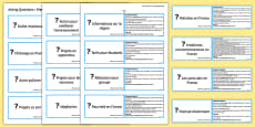 GCSE French Asking Questions Practice Cards Higher
