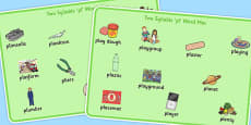 Two Syllable PL Sound Word Mats