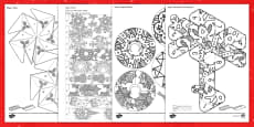 * NEW * Christmas Decorations Mindfulness Coloring Activity Pack