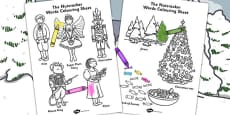 The Nutcracker Words Colouring Sheet