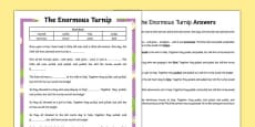 The Enormous Turnip Traditional Tale Cloze Procedure Differentiated Activity Sheet Pack