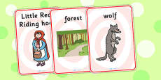 Little Red Riding Hood Display Posters