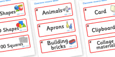 Ladybug Themed Editable Classroom Resource Labels