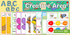 * NEW * EYFS Creative Area Classroom Set Up Pack