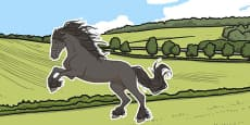 Black Beauty Picture Cut Out