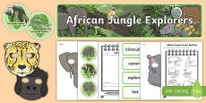 African Jungle Explorers Role Play Pack