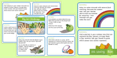Outdoor Learning Big Art Challenge Cards
