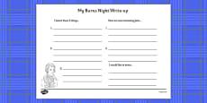 Burns Night Write Up Activity Sheet