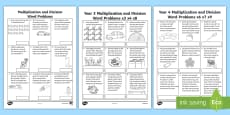 * NEW * Multiplication and Division Word Problems Resource Pack